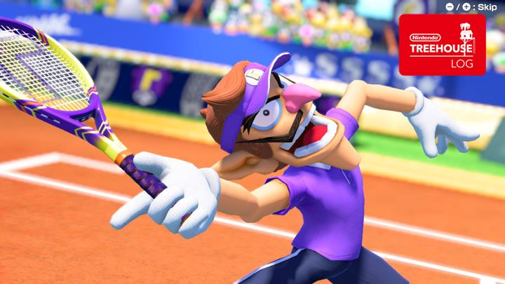 Jeu Mario Tennis Aces sur Nintendo Switch : Waluigi smash