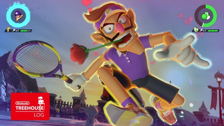 Jeu Mario Tennis Aces sur Nintendo Switch : Waluigi lance son coup spécial
