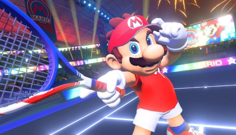 Screenshot du jeu Mario Tennis Aces sur Nintendo Switch : Mario
