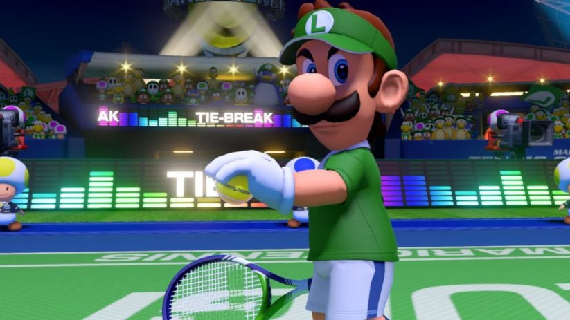 Screenshot du jeu Mario Tennis Aces sur Nintendo Switch : Luigi