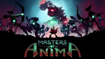 Jeu Masters of Anima sur Nintendo Switch : écran titre