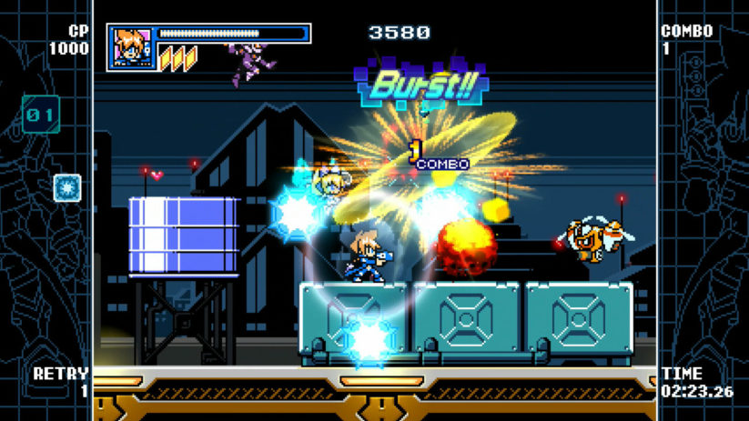 Image du jeu Mighty Gunvolt Burst sur Nintendo Switch : Gunvolt en action