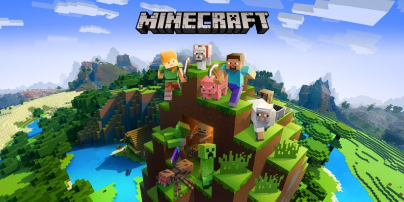 Jeu Minecraft sur Nintendo Switch : artwork du jeu