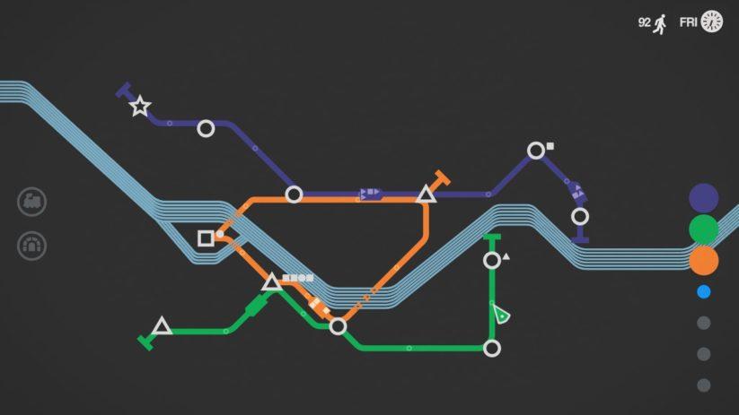 Jeu Mini Metro sur Nintendo Switch : explorez le mode nuit