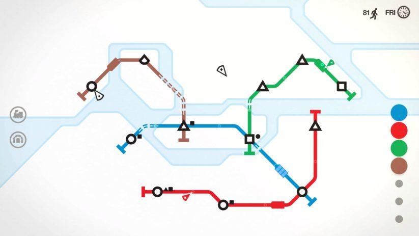 Jeu Mini Metro sur Nintendo Switch : voici les îles de Stockholm