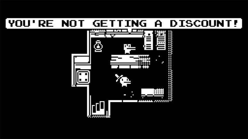 Jeu Minit sur Nintendo Switch : les personnages ne seront que rarement de votre côté mais toujours utiles