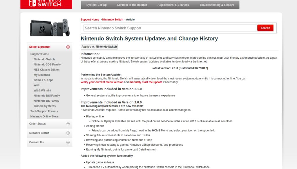 [Mise à jour 2.1.0] MAJ du firmware 2.1.0 de la Switch