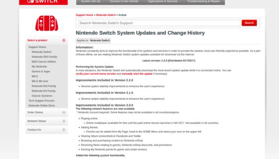 [Mise à jour 2.2.0] MAJ du firmware 2.2.0 de la Switch