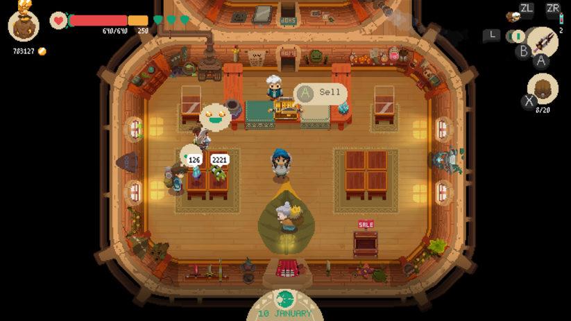 Jeu Moonlighter sur Nintendo Switch : bienvenue dans votre magasin