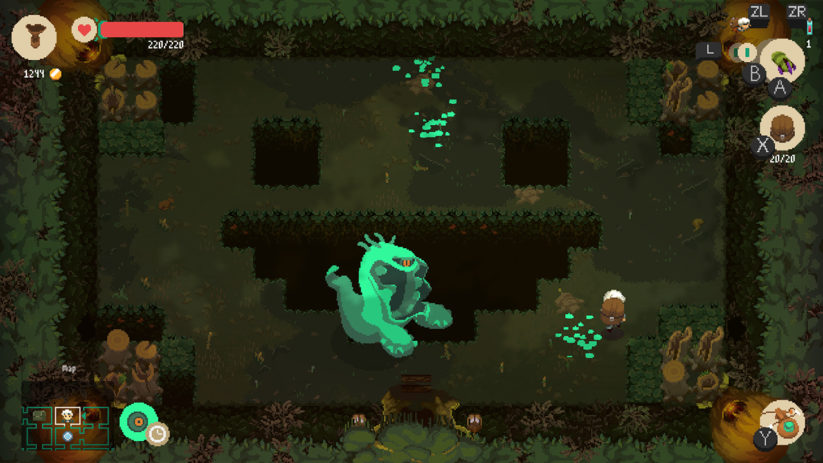 Jeu Moonlighter sur Nintendo Switch : oh le vilain golem