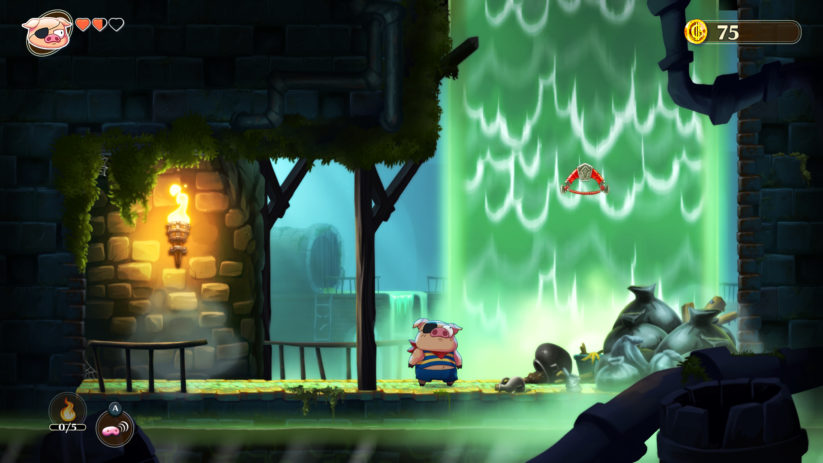 Jeu Monster Boy and the Cursed Kingdom sur Nintendo Switch : notre première transformation en cochon