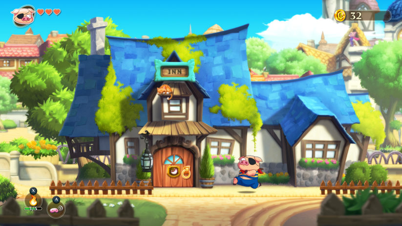 Jeu Monster Boy and the Cursed Kingdom sur Nintendo Switch : le animations du cochon sont fantastiques