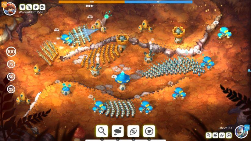 Jeu Mushroom Wars 2 sur Nintendo Switch : affrontement à plusieurs niveaux