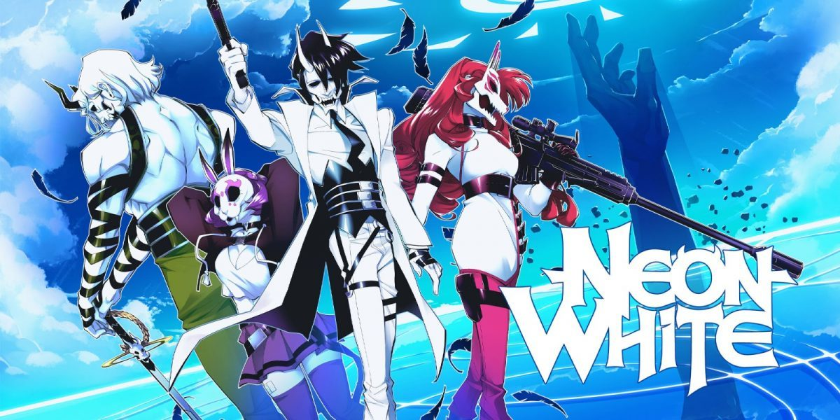 Jeu Neon White sur Nintendo Switch : artwork du jeu