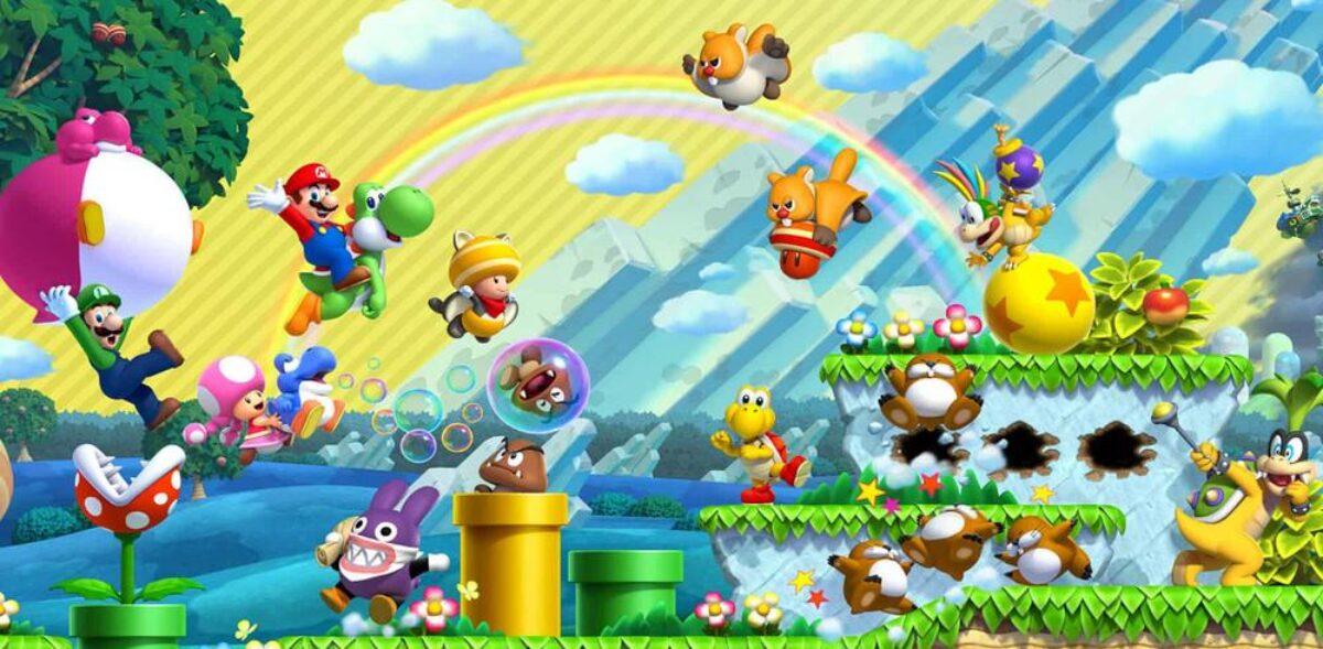 Jeu New Super Mario Bros. U Deluxe sur Nintendo Switch : artwork du jeu