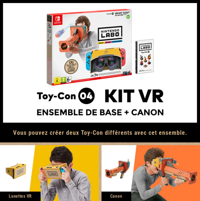 Kit Nintendo Labo VR ensemble de base + canon