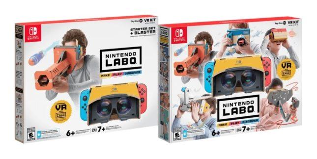 Kits réalité virtuelle (VR) du Nintendo Labo
