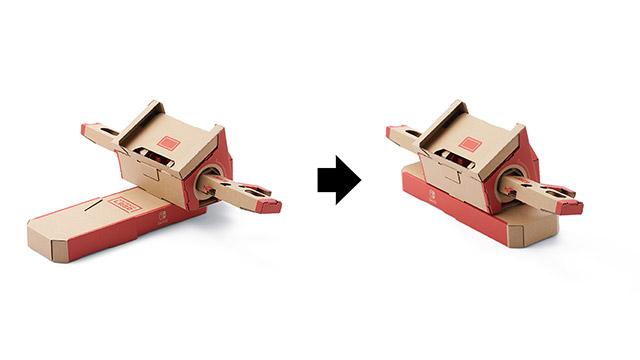 Jeu Nintendo Labo sur Nintendo Switch : rangement de la moto