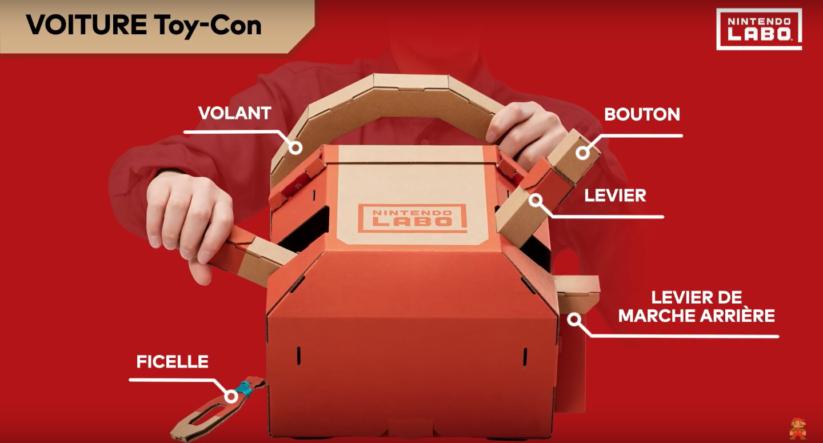 Jeu Nintendo Labo sur Nintendo Switch : le volant du Toy-Con voiture