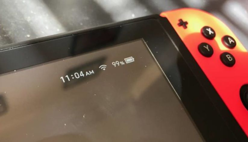 Barre de la batterie de la switch