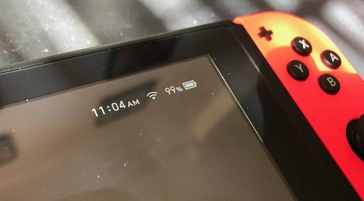 Barre de la batterie de la switch