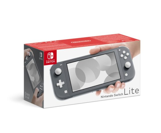 Packaging de la Nintendo Switch Lite Grise