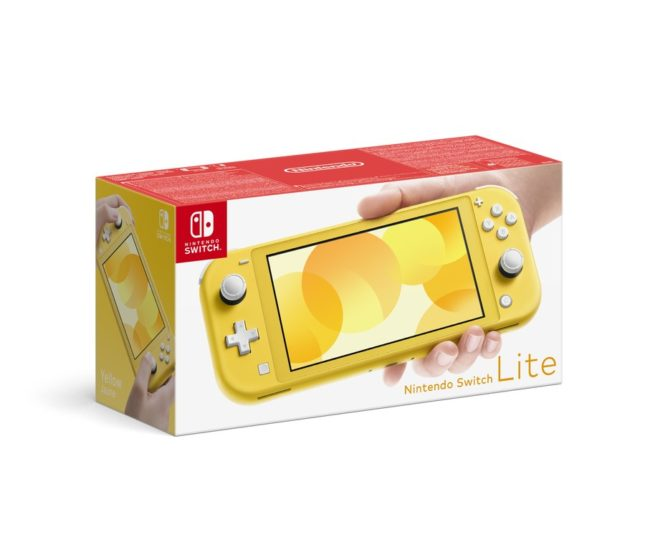 Packaging de la Nintendo Switch Lite Jaune