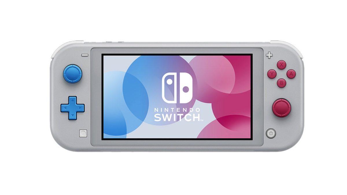 Aperçu de la Nintendo Switch Lite édition Pokémon Épée et Bouclier