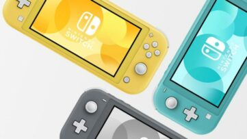 Le trio de couleurs de la Nintendo Switch Lite