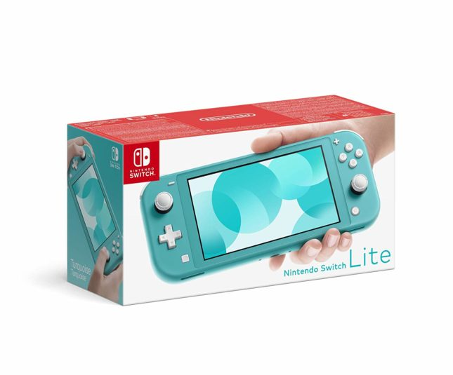 Packaging de la Nintendo Switch Lite Turquoise