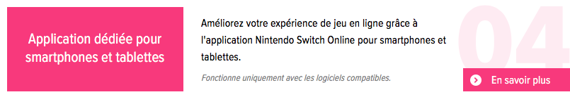 Nintendo Switch Online : accès à l'application Nintendo Switch Online