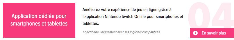 Nintendo Switch Online : accès à l'application Nintendo Switch Online