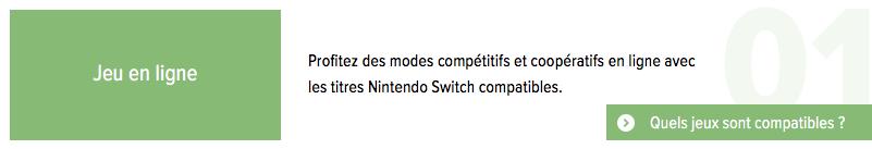 Nintendo Switch Online : accès au jeu en ligne