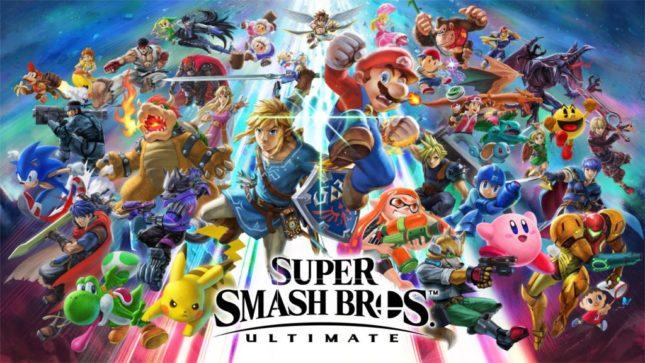 Jeu Super Smash Bros. Ultimate : artwork du roster