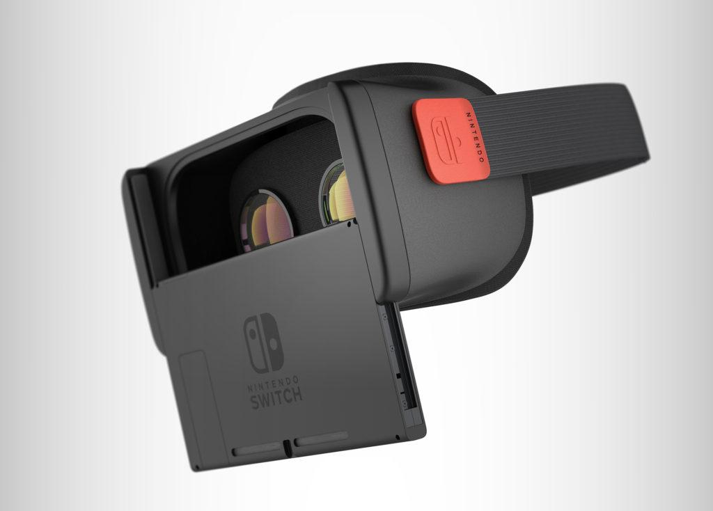 Design du casque Nintendo Switch VR réalisé par Antoine Beynel