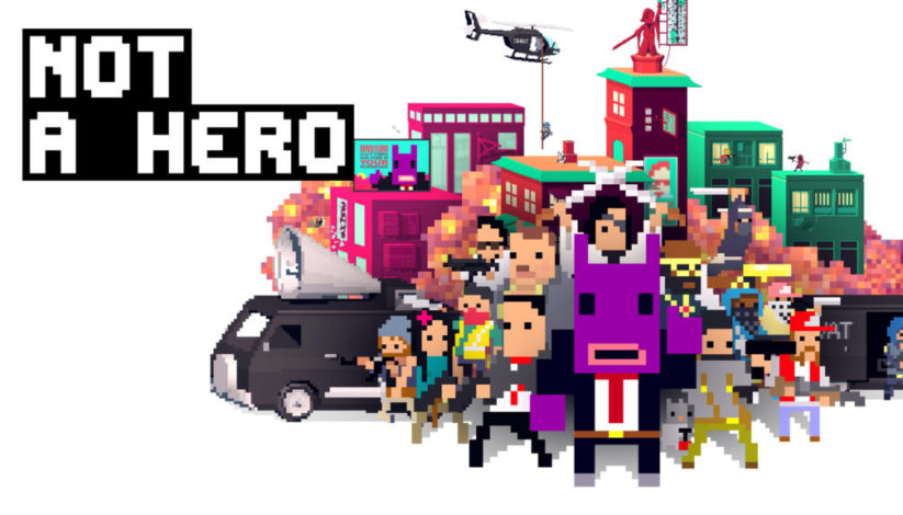 Jeu Not A Hero : Super Snazzy Edition sur Nintendo Switch : artwork du jeu