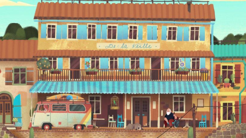 Jeu Old Man's Journey sur Nintendo Switch : hotel de la veille