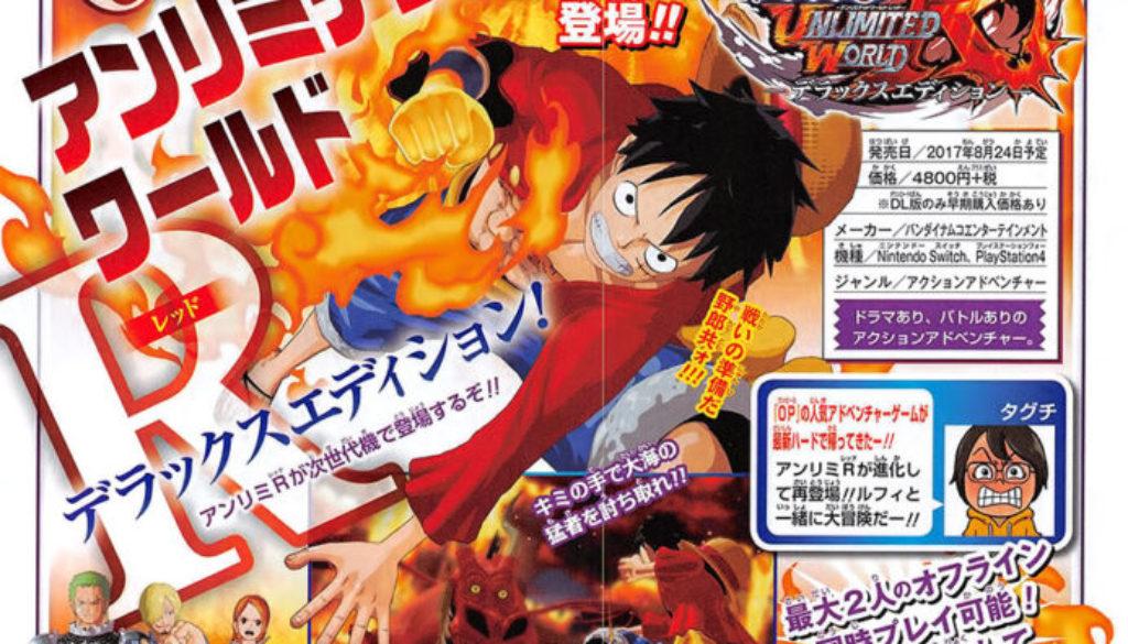 One Piece: Unlimited World Red Deluxe Edition arrive sur Switch avec tous les DLCs et le mode coop à 2 joueurs