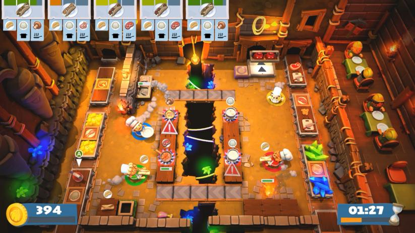 Jeu Overcooked! 2 sur Nintendo Switch : Il y a le feu dans la cuisine