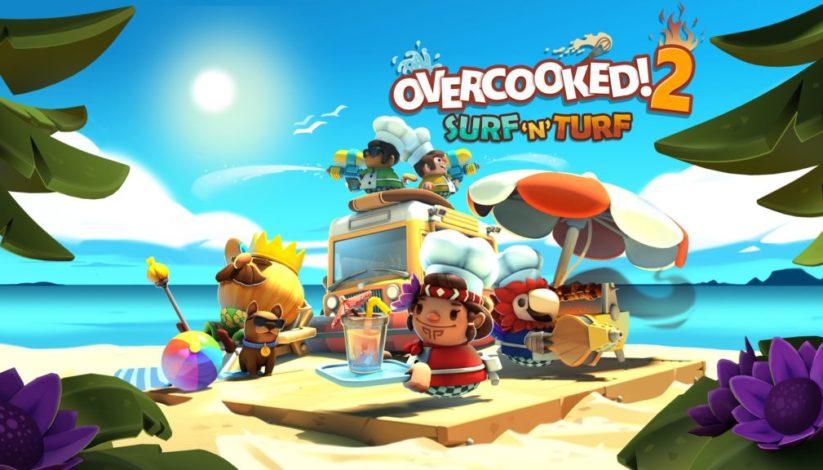 Jeu Overcooked! 2 sur Nintendo Switch : artwork du DLC Surf 'n' Surf
