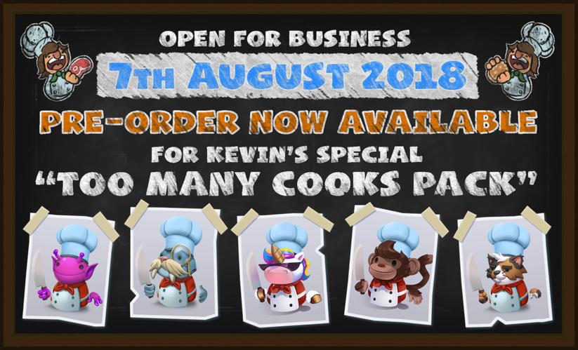 Pack Too Many Cooks pour une précommande du titre Overcooked 2 sur Nintendo Switch