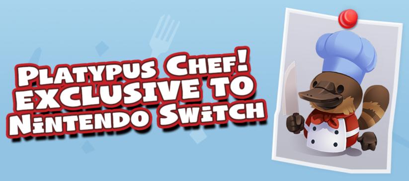 Le 6ème chef en exclusivité sur la Nintendo Switch, un ornithorynque, du Pack Too Many Cooks pour une précommande du titre Overcooked 2