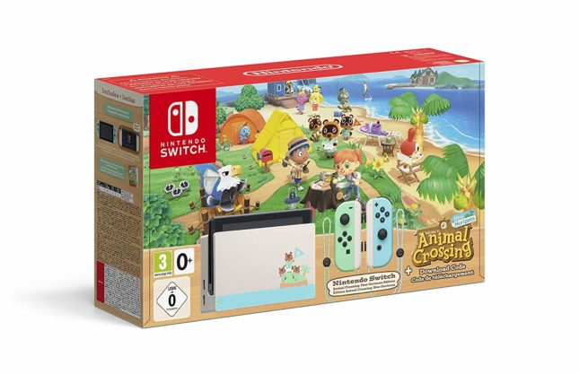 Packaging de la Nintendo Switch édition spéciale Animal Crossing: New Horizons