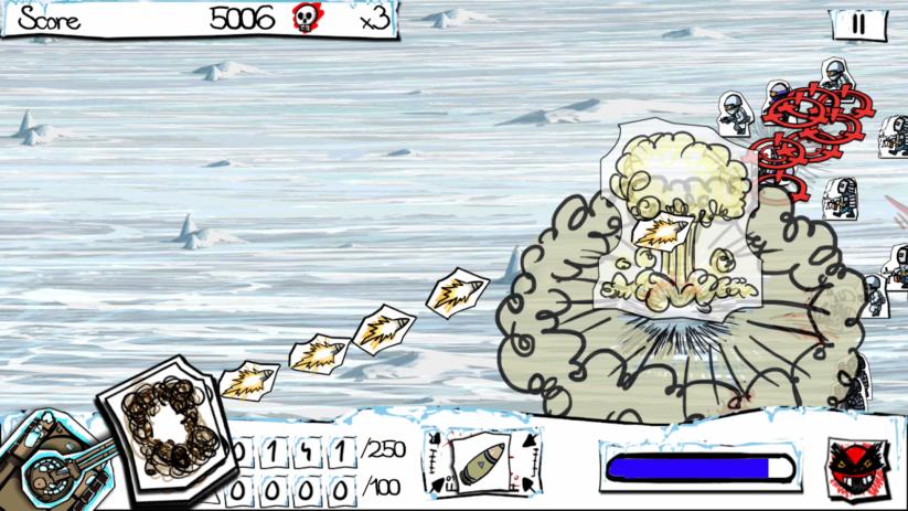 Jeu Paper Wars : Cannon Fodder Devastated sur Nintendo Switch : Explosion hivernale