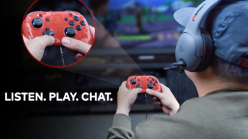 PDP : Manette Faceoff Deluxe+ Audio Wired Controller avec support de chat