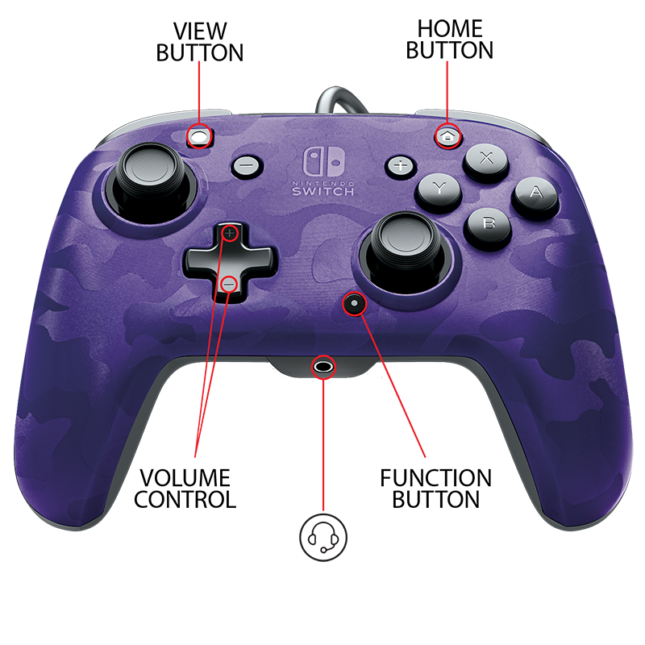 Manette Faceoff Deluxe+ Audio Wired Controller : version violet 5