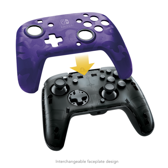 Manette Faceoff Deluxe+ Audio Wired Controller : version violet 6