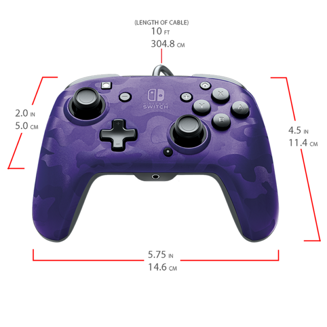 Manette Faceoff Deluxe+ Audio Wired Controller : version violet 7