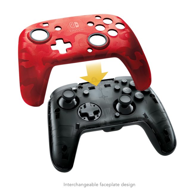 Manette Faceoff Deluxe+ Audio Wired Controller : version rouge 6