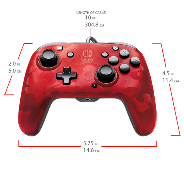 Manette Faceoff Deluxe+ Audio Wired Controller : version rouge 7
